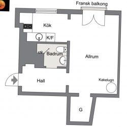 Min första lägenhet.
